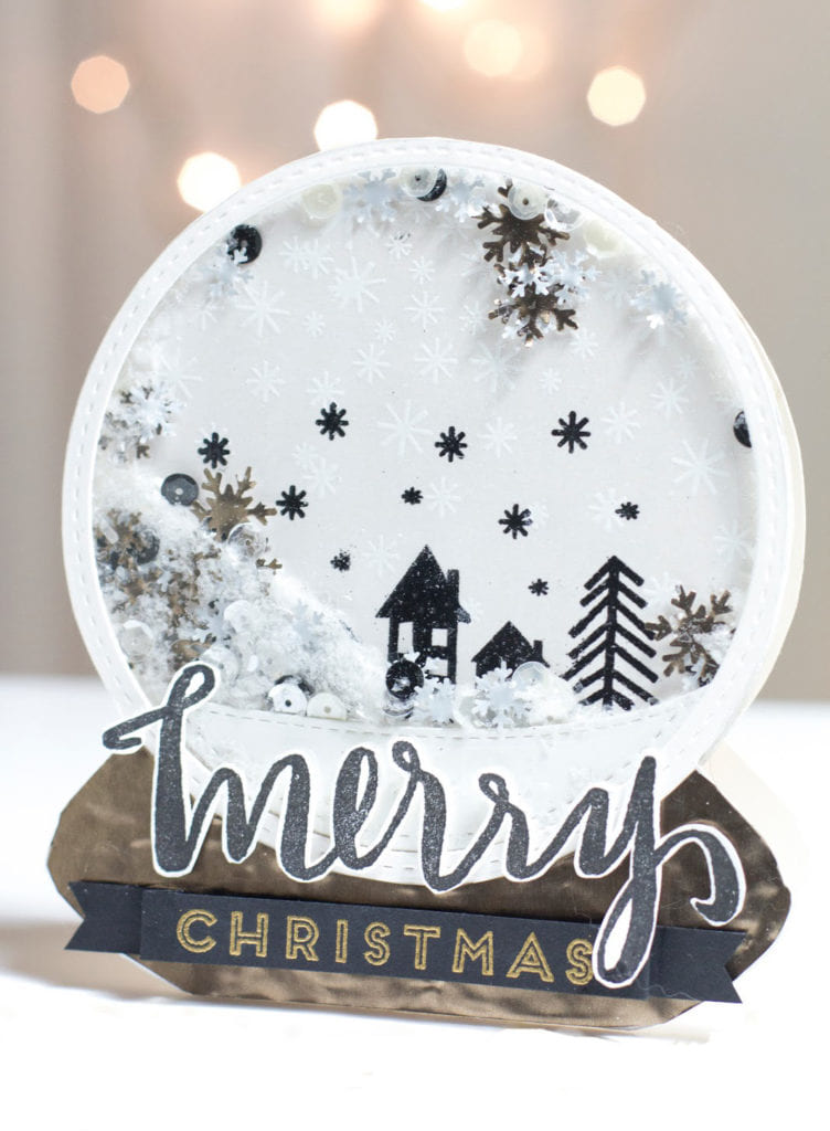 Merry Christmas Shaker Globe Card by Taheerah Atchia