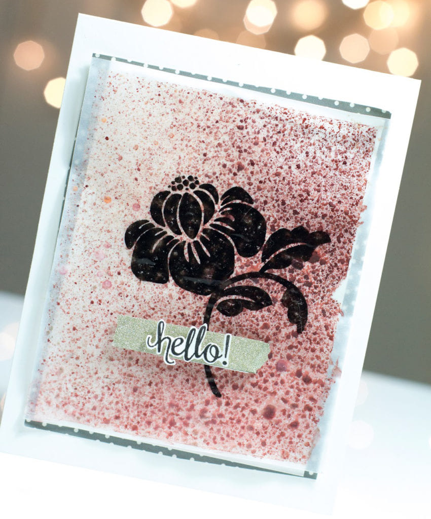 Bold Flower Silhouette Hello card by Taheerah Atchia