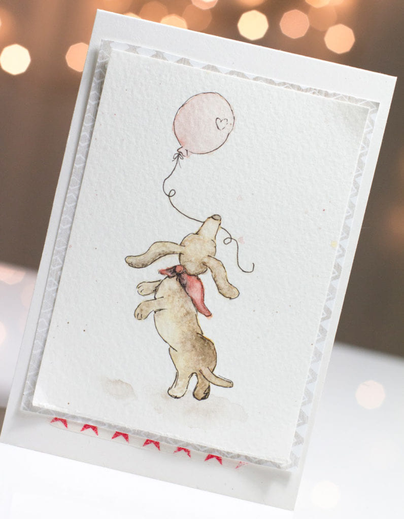 Playful Doxie Friendship card by Taheerah Atchia