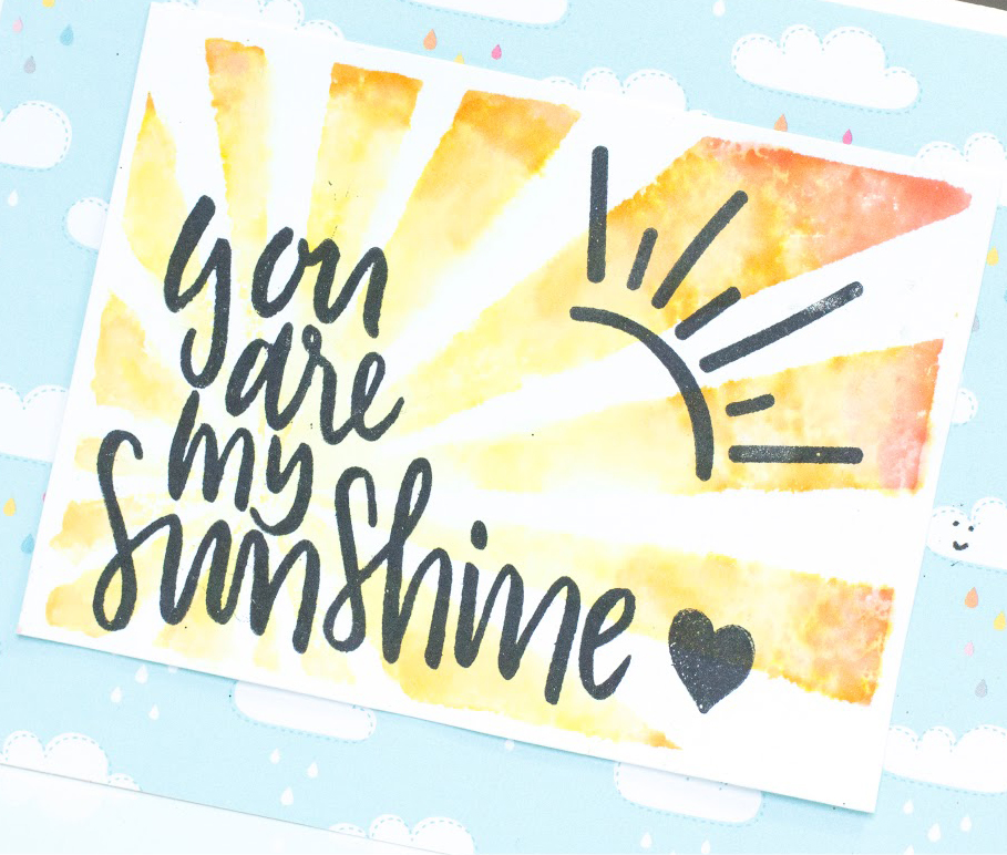 You Are My Sunshine card by Taheerah Atchia