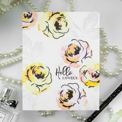 Hello Lovely Winter Rose Card by Taheerah Atchia
