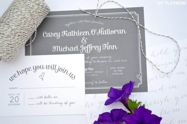 Simple and elegant wedding invites don't have to be fancy and expensive to be amazing