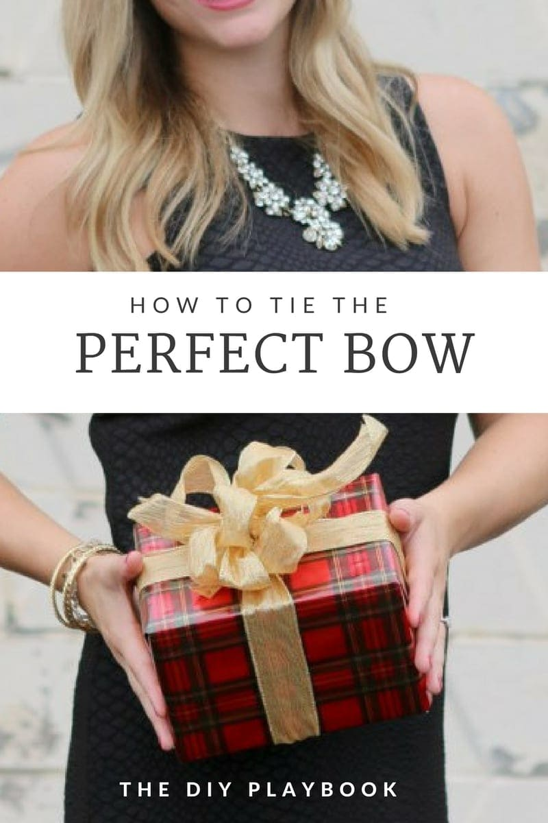 How to Tie the Perfect Bow For Gifts   DIY Playbook
