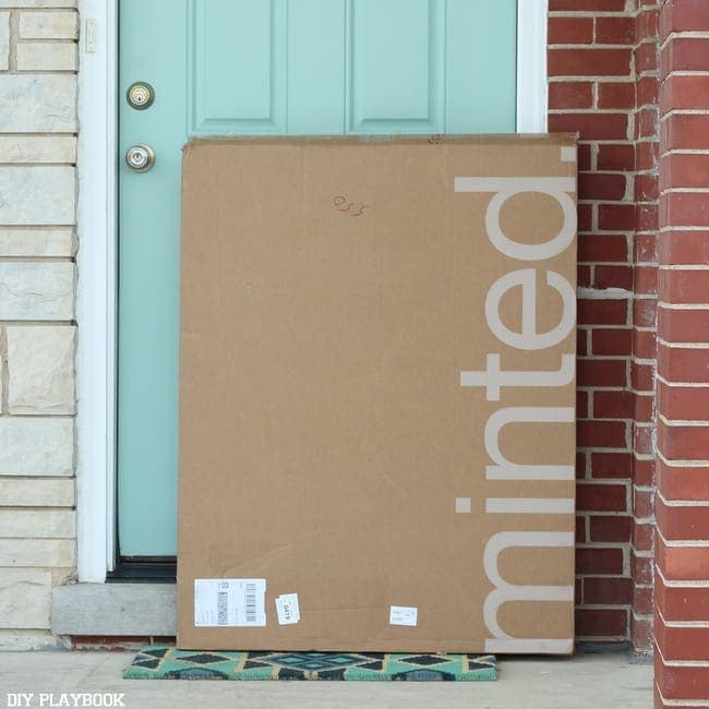 Minted delivers straight to your front door step.