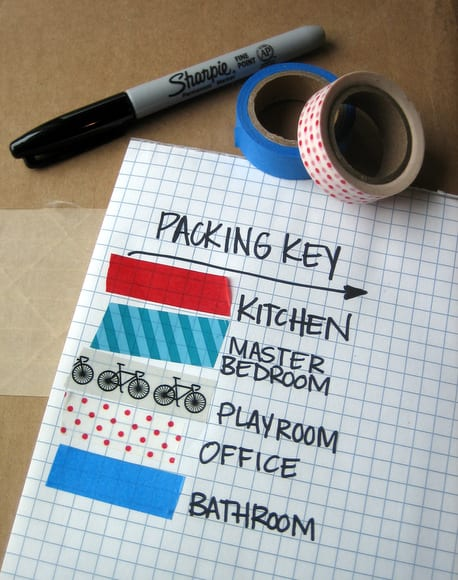 Be sure to create a packing key so you know what all your labeled boxes are.