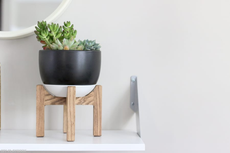 This succulent planter from Target looks great on my shelf and is easy to care for.