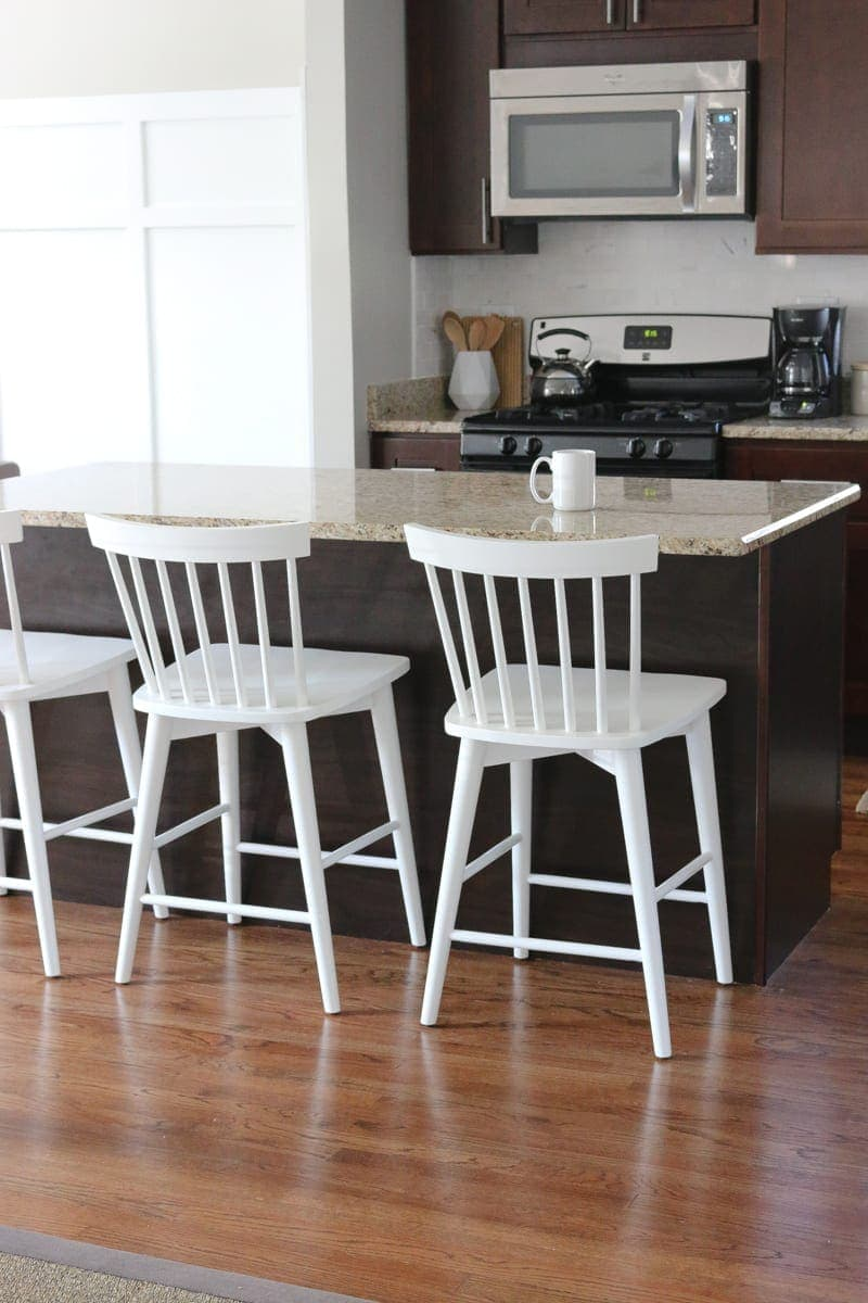 These are the new, brighter and lighter counter stools!