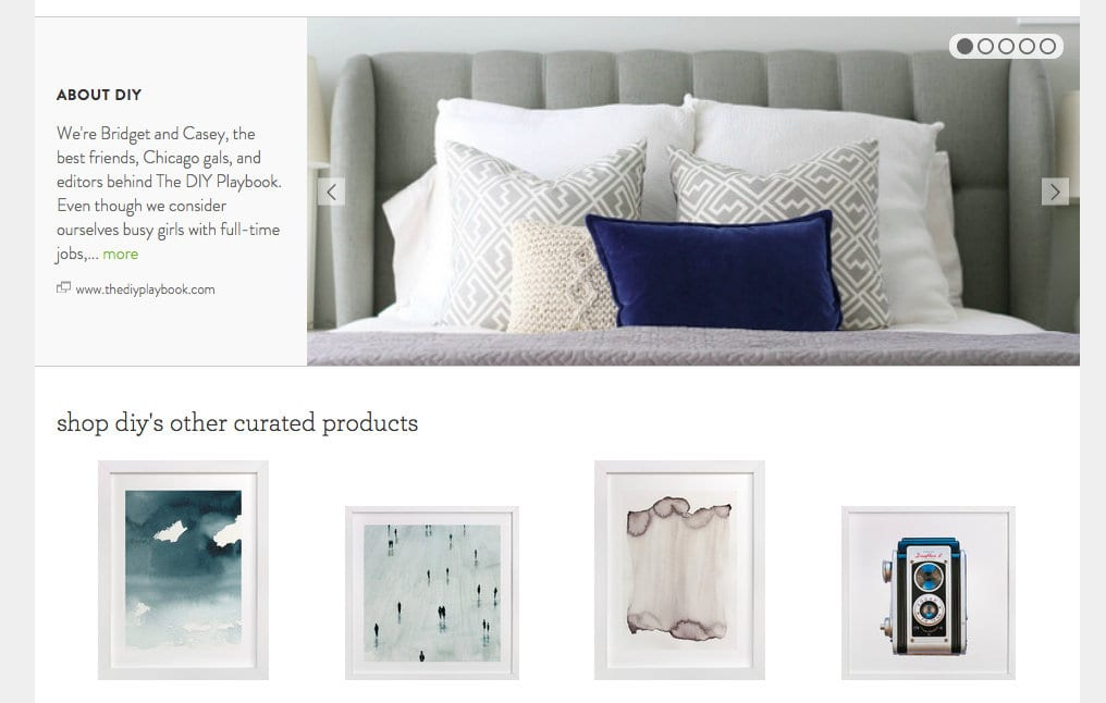 These unique pieces of wall are pair well with the colorful throw pillow.