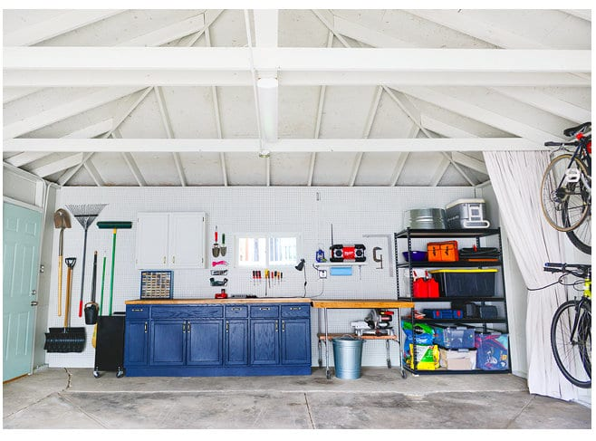 And awesome idea of a clean and beautiful garage. Definitely a huge inspiration for me when it comes to future garage organization plans!