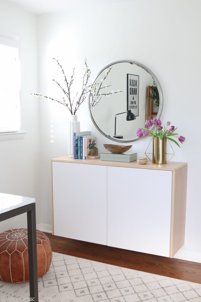 fauxdenza_mirror_Spring_branches_books_flowers-13