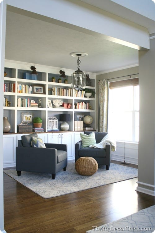Thrifty Decor Chick's built-in library space