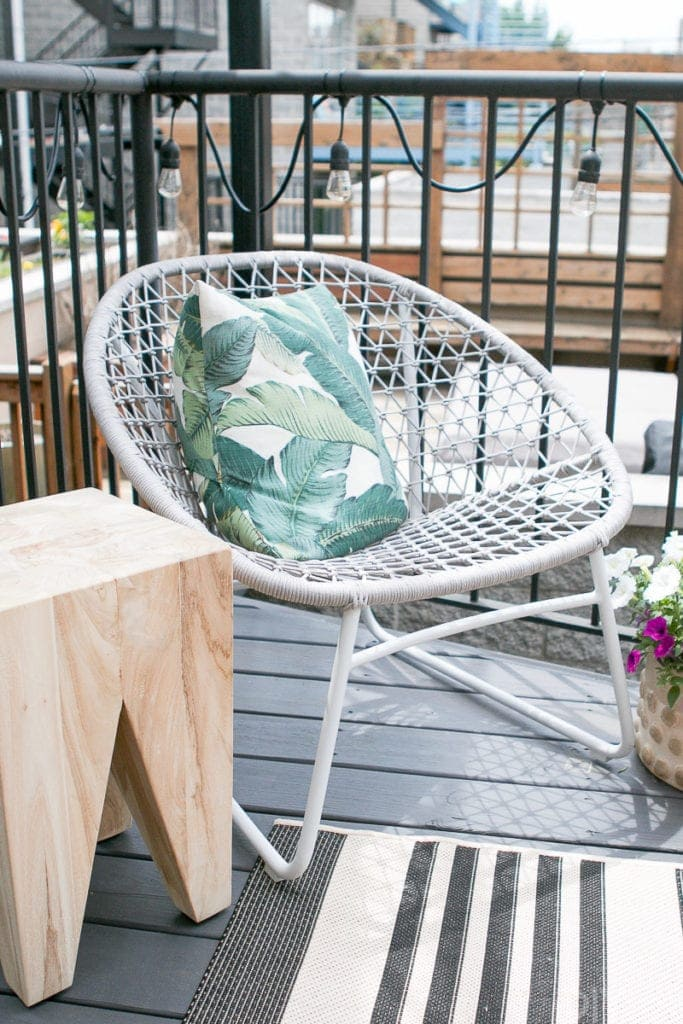 Gray lounge chair from Article