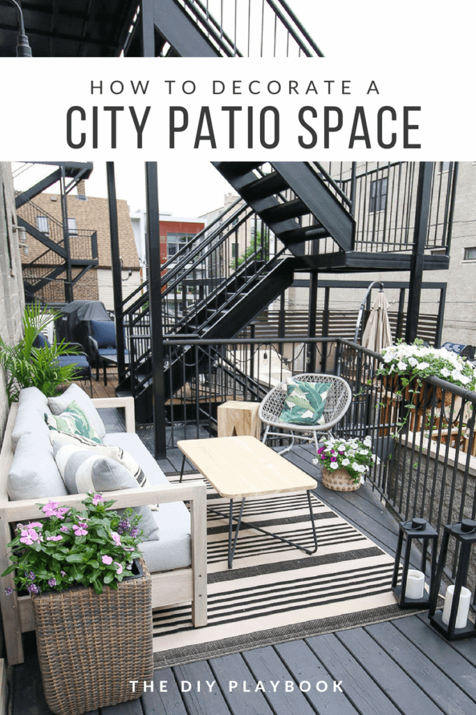Tips and furniture to decorate a city patio space