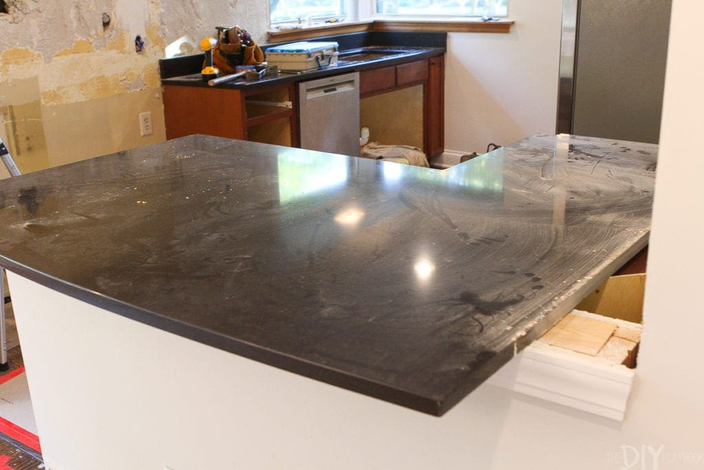 how to remove countertops during kitchen demo