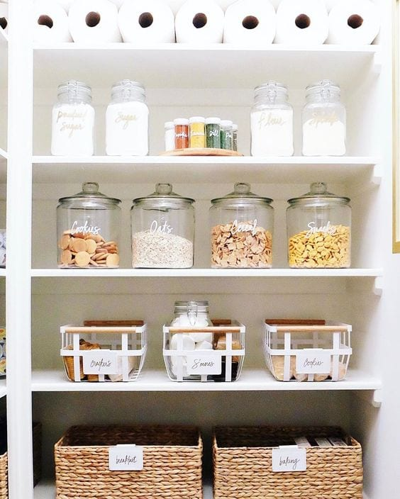 Organizing a pantry with inspiration from The Home Edit