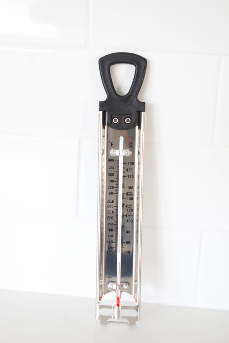 using a candy thermometer for Chocolate Pecan Toffee Recipe