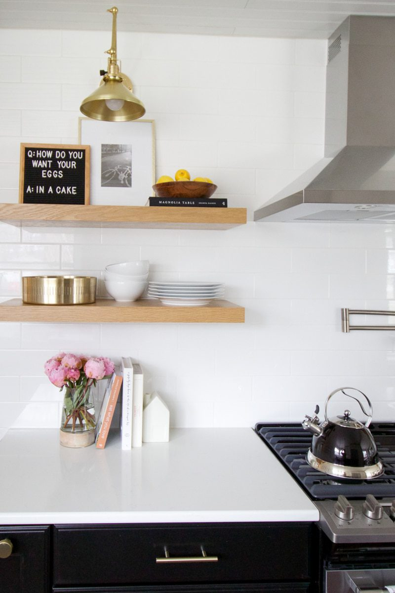 How To Style Open Shelves In The Kitchen