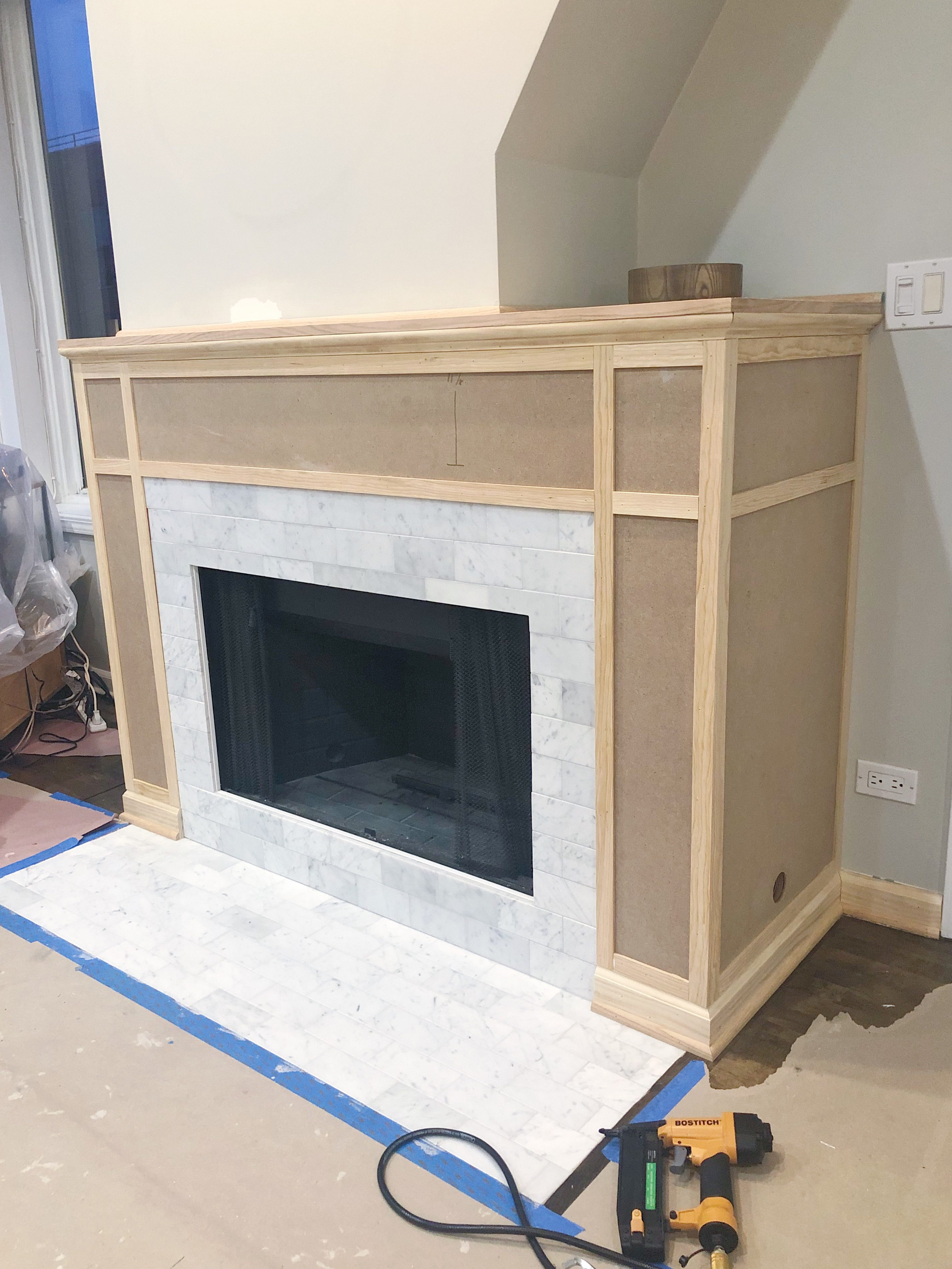 Excellent Adding Cement Board To Fireplace Surround The Diy Playbook Download Free Architecture Designs Scobabritishbridgeorg