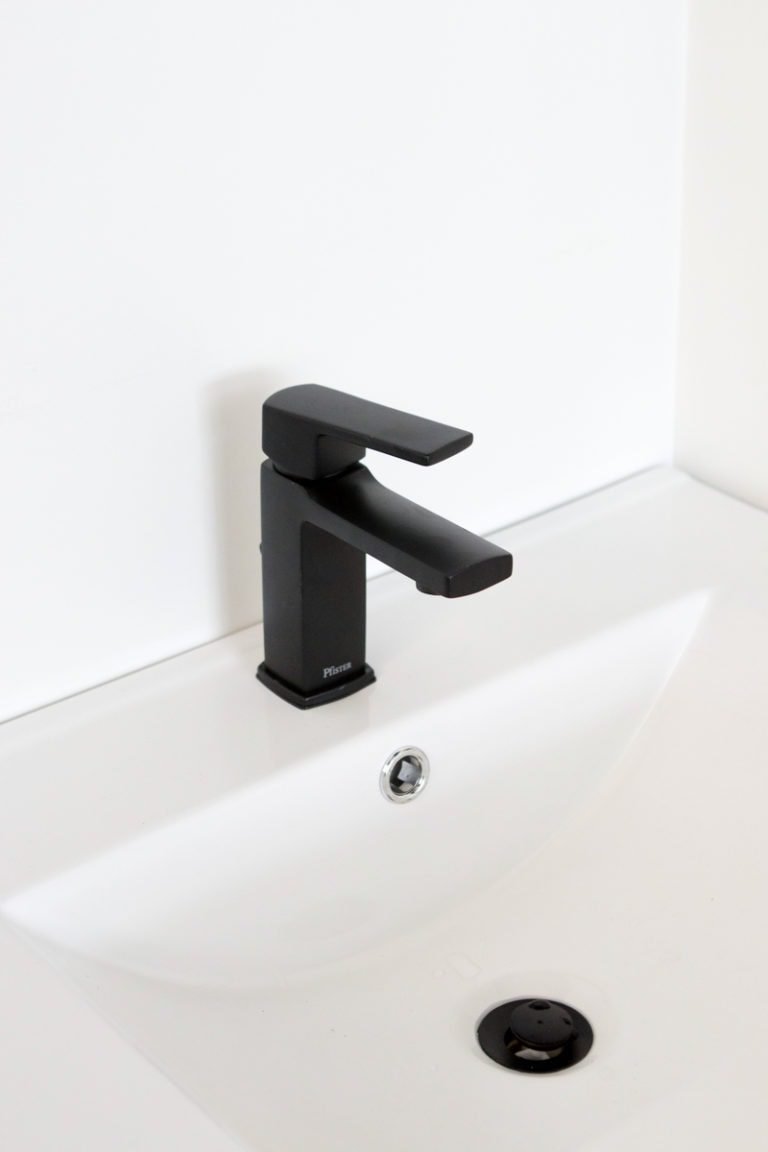 black faucet from Pfister