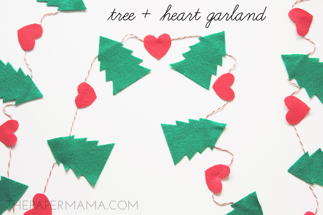 Tree Plus Heart Garland // thepapermama.com