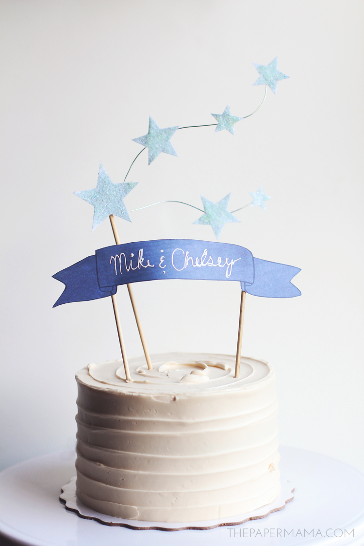 Star and Banner Cake Topper on HP Create