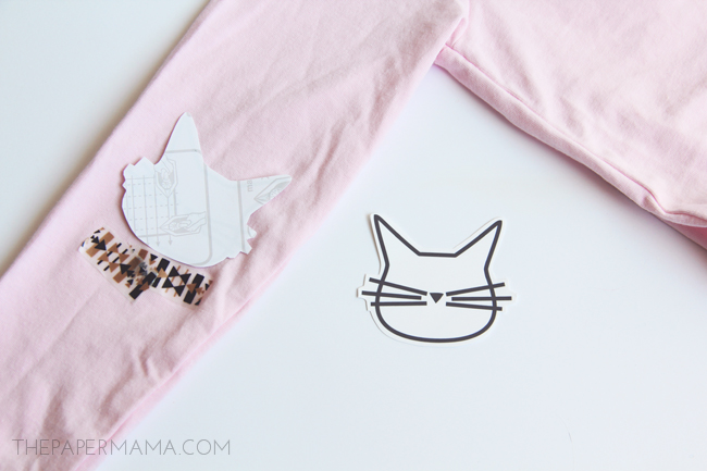 Cat Face Elbow Patches (with free printables)