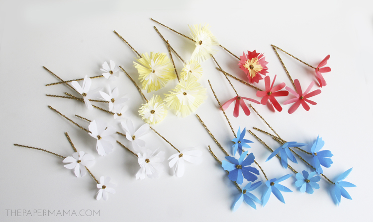 Mini Paper Flower Bouquets