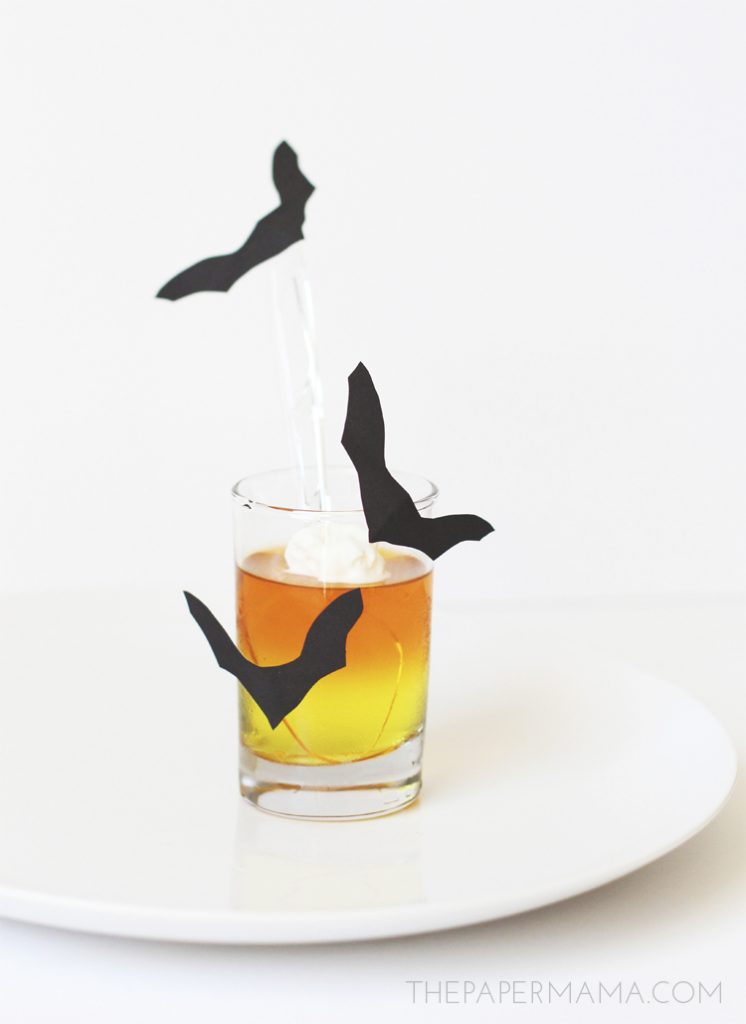 Halloween Candy Corn Jello with Spooky Spoon Toppers!