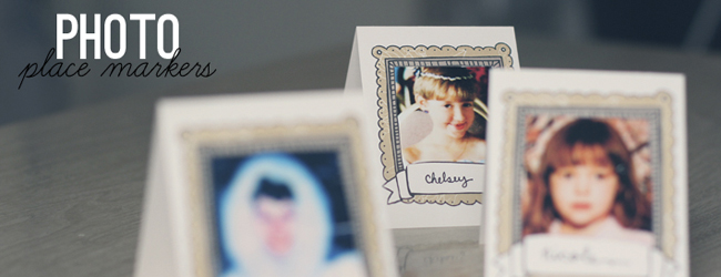 Day 15 of 50 DIY Days of Christmas: Photo Frame Place Markers // thepapermama.com