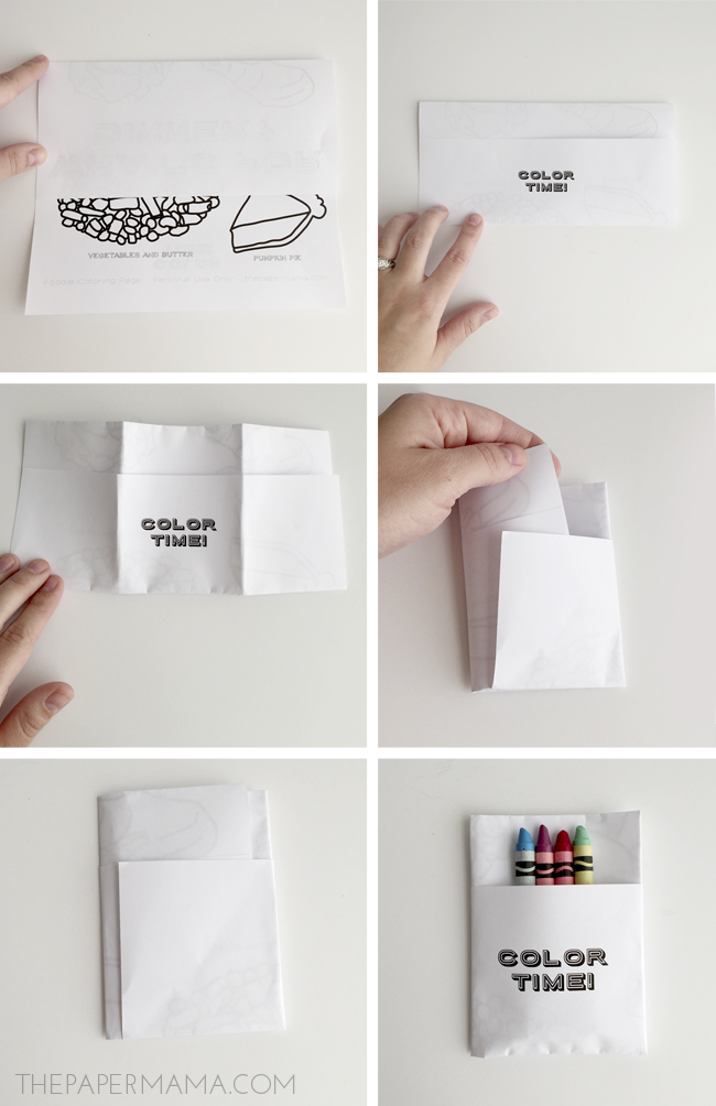 How to fold a kids menu to hold crayons