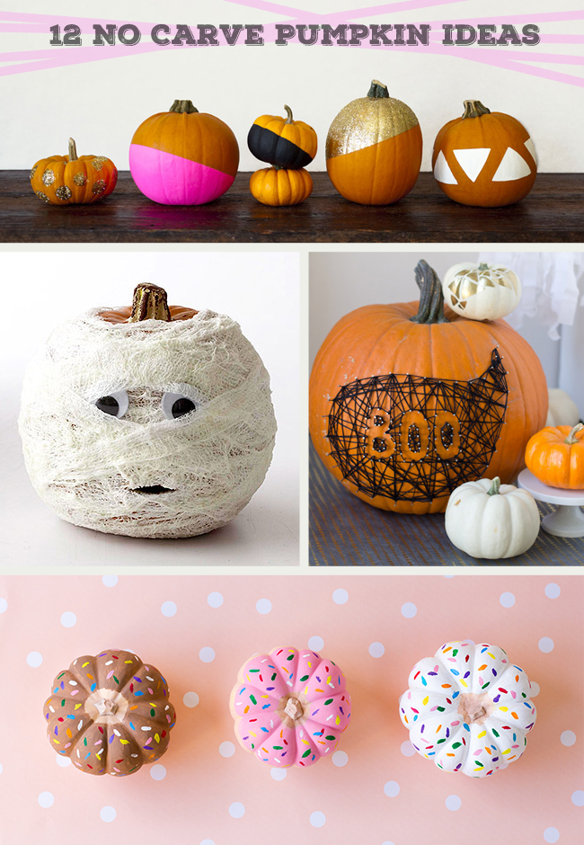 12 No Carve Pumpkin Ideas