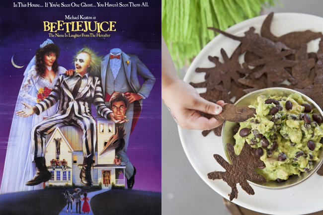 I loved Beetlejuice as a kid, and it would go well with Creepy-Crawly Chips in Swampy Guacamole (on HGTV).