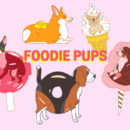 FOODIE PUPS - A Series of Hard Enamel Pins - Dogs Puppy