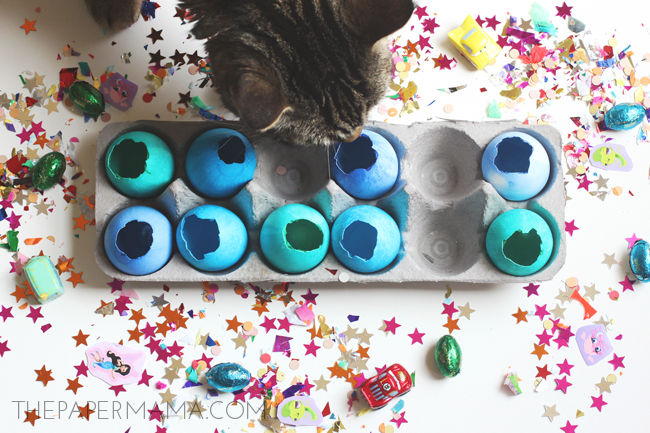 Cascarones Easter Egg Surprise Countdown // thepapermama.com