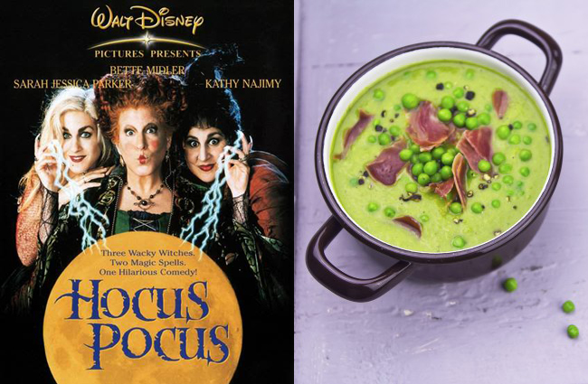 I watch Hocus Pocus every year, and it would go great with Witches Brew Pea Chowder (on K&L Food Blog).