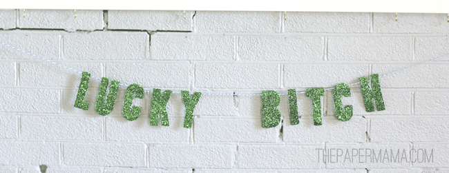 Lucky Lady Banner // thepapermama.com