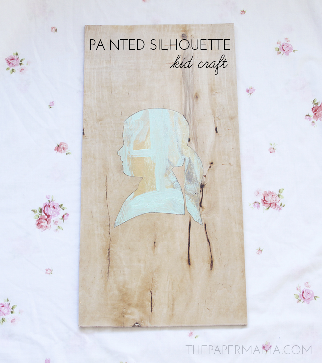 Painted Silhouette Kid Craft // thepapermama.com