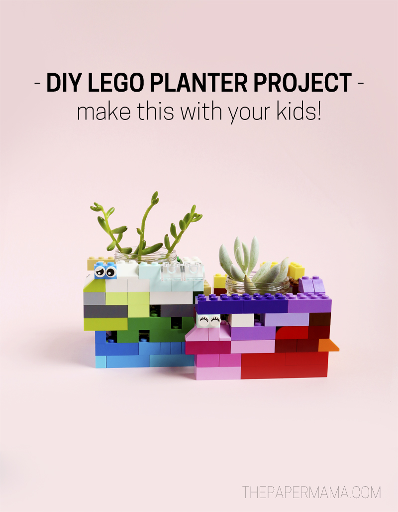DIY LEGO Planter Project - fun to make with kids!