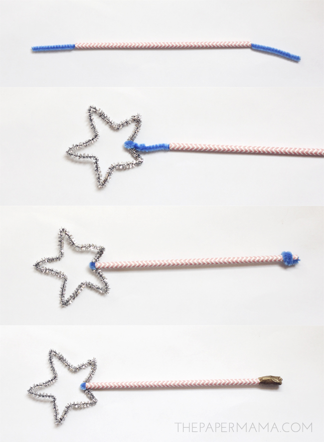 4th of July Sparkler Wand // thepapermama.com