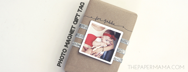Day 31 of my 50 DIY Days of Christmas: Photo Magnet Gift Tag // thepapermama.com
