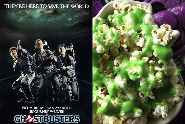 Ghostbusters is a must while eating Halloween Ectoplasm Smiled Popcorn (on Suzie The Foodie).