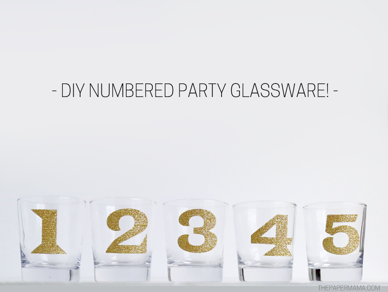 DIY Numbered Party Glassware!
