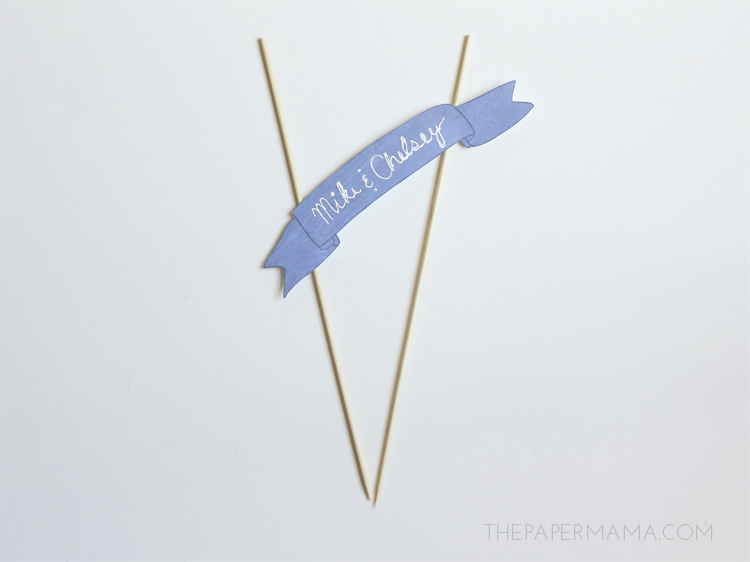Star and Banner Cake Topper - with free printables