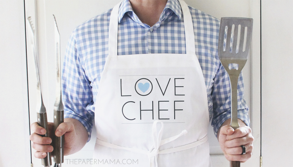 Love Chef Apron with Printable // thepapermama.com