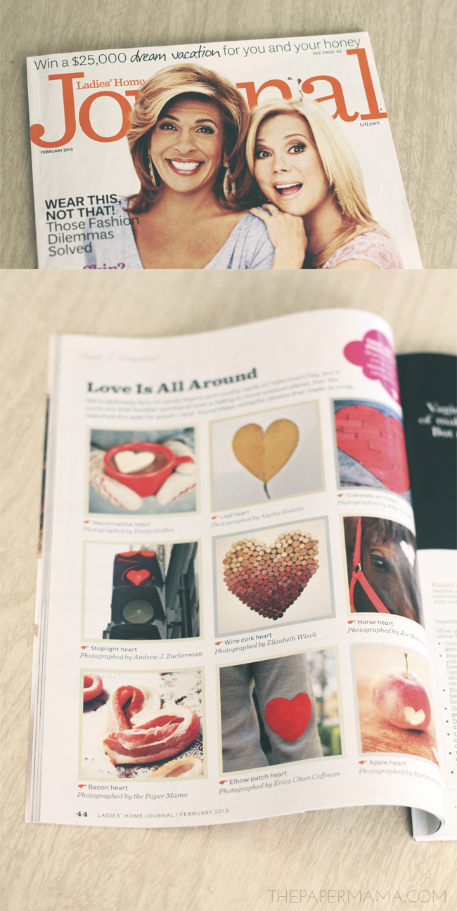 Bacon Hearts in Ladies Home Journal // thepapermama.com