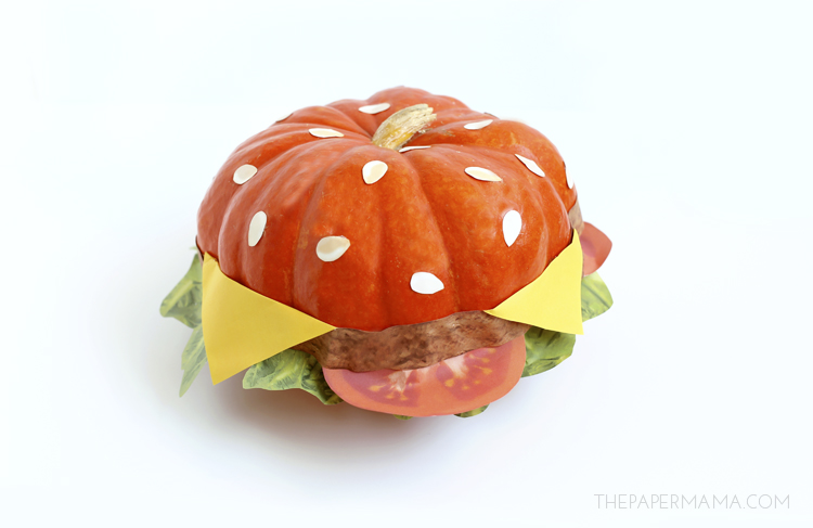 No Carve Cheeseburger Pumpkin