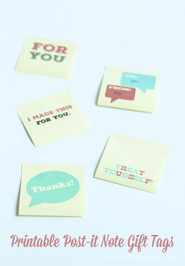 Post-it Note Gift Tags