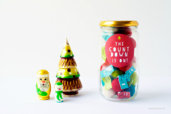 "I love this cute daily activities ""advent in a jar"" diy, from Poppytalk."