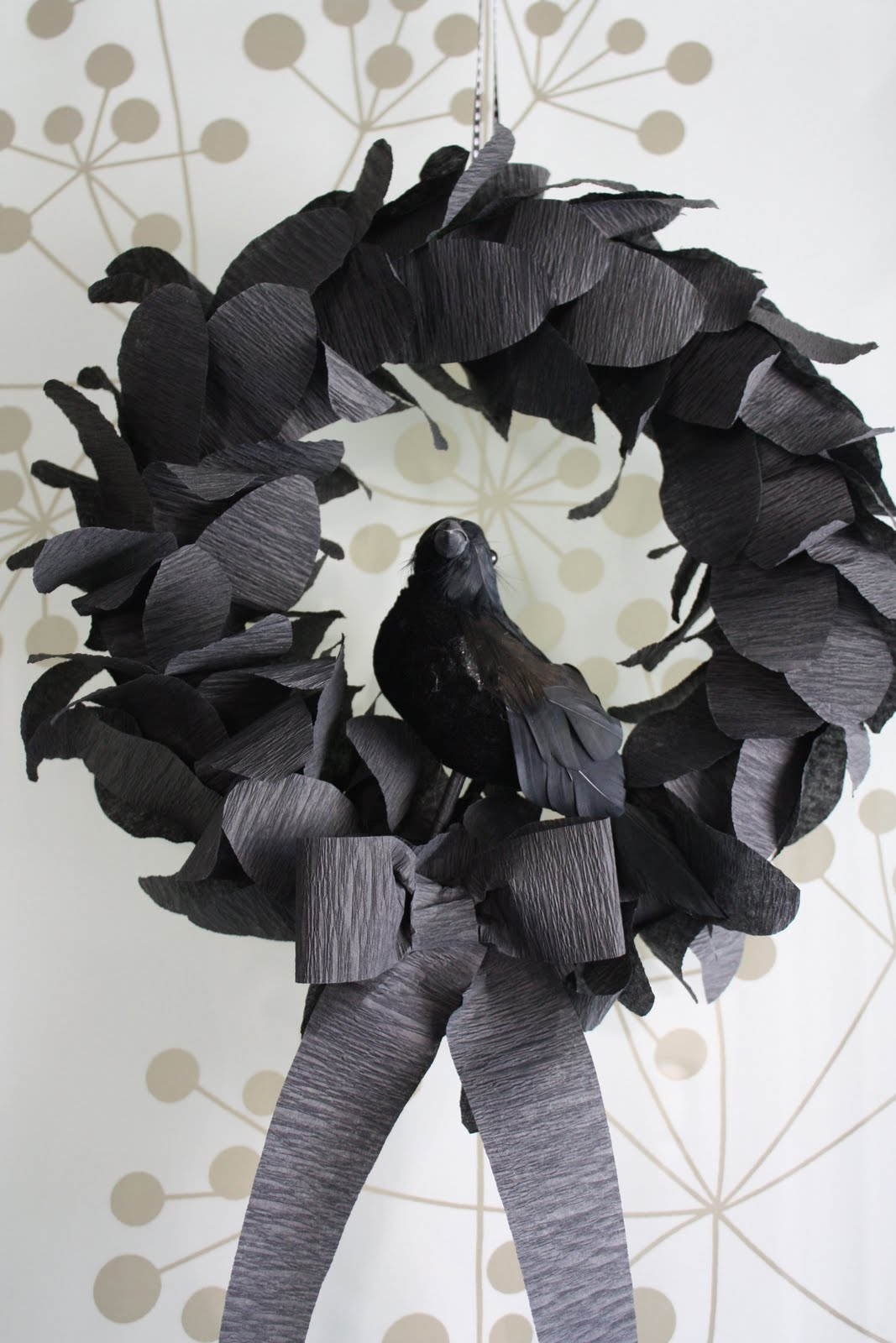 I really think I'll be making this Nevermore wreath this year, I love it. On Katydid and Kid.
