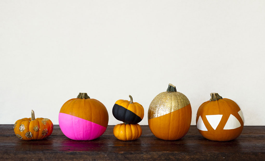 Color Dipped Pumpkins